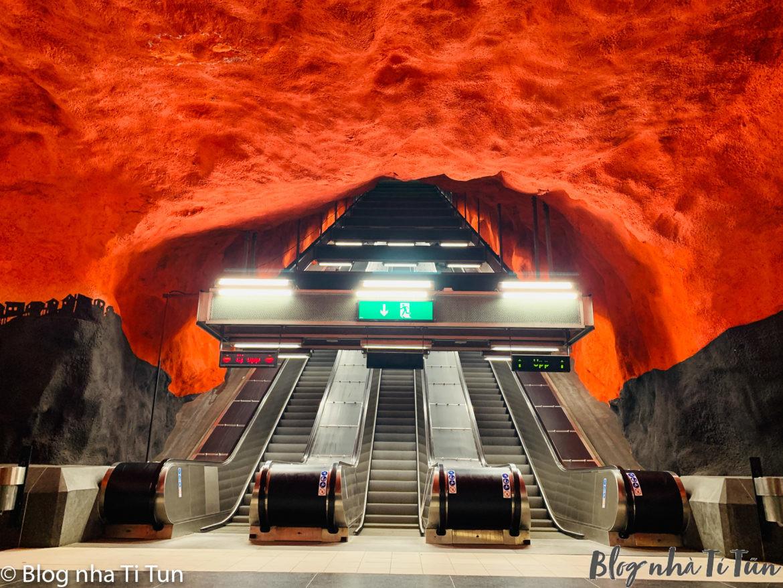 Trải nghiệm con đường nghệ thuật dưới lòng Stockholm